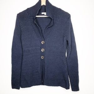 Boden Navy Knit Cardigan Sweater